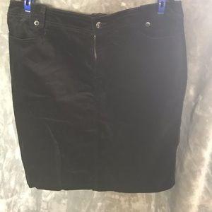 NWT Christopher&Banks black Midi skirt. Size 16
